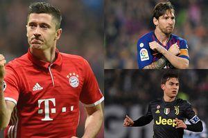 'Vua phá lưới' Champions League 2018/2019: Lewandowski = Messi + 2