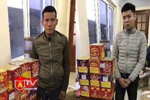 CAH Thường Tín bắt giữ 2 đối tượng vận chuyển, mua bán pháo trái phép