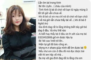 Thiếu nữ 14 tuổi mất tích bí ẩn khi về quê Nghệ An ăn Tết
