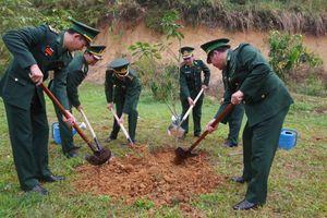 Các đơn vị BĐBP trồng cây đời đời nhớ ơn Bác Hồ