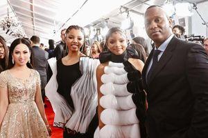 Em gái tỷ phú của Cẩm Ly dự Grammy, sánh bước bên dàn sao Hollywood