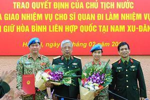 Thêm một sĩ quan Việt Nam làm nhiệm vụ tại phái bộ Nam Sudan