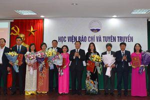 Học viện Báo chí và Tuyên truyền bổ nhiệm lãnh đạo 8 đơn vị