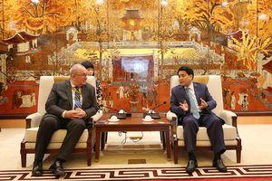 Đại sứ Bỉ đề xuất 3 nội dung hợp tác với thành phố Hà Nội
