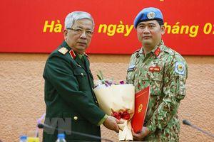 Thêm một sĩ quan Việt Nam đi làm nhiệm vụ gìn giữ hòa bình tại Nam Xu-đăng