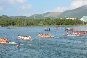 Giải đua thuyền trên sông Cu Đê năm 2019