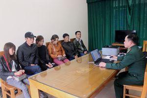 Đồn Biên phòng Bắc Sơn bắt giữ 6 đối tượng vượt biên trái phép
