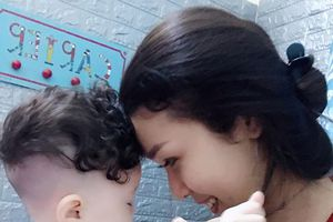 Mẹ đơn thân 9X xinh đẹp: Valentine không cô đơn vì 'hẹn hò' với con trai