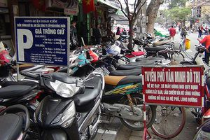 Hà Nội sẽ thu hồi giấy phép các điểm trông giữ xe vi phạm