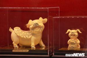 Những chú lợn vàng độc đáo trong ngày vía Thần Tài năm Kỷ Hợi