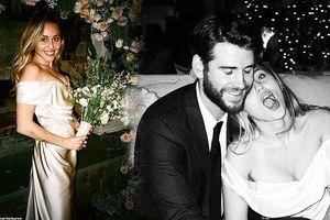 Miley Cyrus khoe ảnh cưới ngọt ngào chưa từng tiết lộ