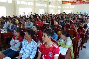 Trà Vinh: Giới thiệu việc làm cho trên 1.200 người mất việc tại Công ty Mỹ Phong