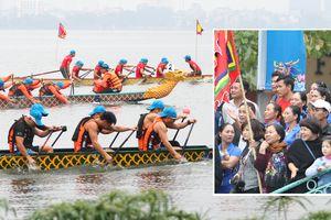 Tưng bừng hội bơi chải thuyền rồng Hà Nội đầu xuân Kỷ Hợi
