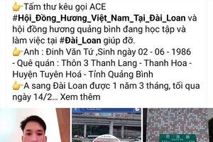 Một lao động người Việt tử vong tại Đài Loan