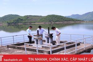 Các hồ chứa lớn ở Hà Tĩnh mở nước tưới dưỡng lúa xuân