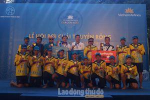 Đội Lào giành ngôi vô địch Giải Bơi chải thuyền rồng Hà Nội mở rộng chuyên nghiệp 2019