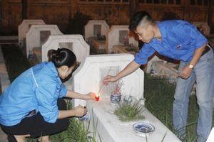 Thanh niên Hà Đông thắp nến tri ân các anh hùng liệt sỹ