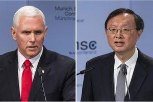 Mỹ - Trung làm 'nóng' vấn đề Huawei và biển Đông tại Hội nghị Munich