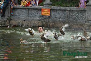 Cười nghiêng ngả xem hội bắt vịt tại Hà Nội