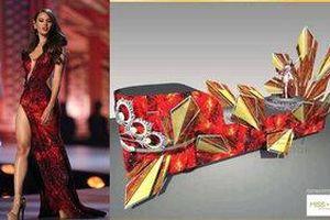 Váy 'núi lửa phun trào' của Miss Universe 2018 - Catriona Gray lại dậy sóng mạng xã hội