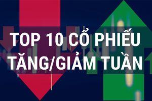 Top 10 cổ phiếu tăng/giảm mạnh nhất tuần 11-15/2