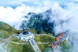 Dáng chùa Việt uy nghiêm trên đỉnh Đông Dương