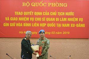 Cử thêm sĩ quan làm nhiệm vụ tại Nam Sudan