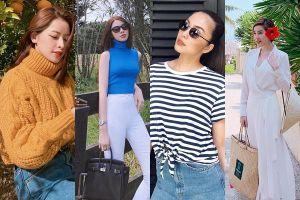 Thời trang 'chất lừ' của loạt Sao Việt trong chuyến du lịch đầu Xuân Kỷ Hợi