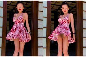 Người tình kém 16 tuổi của thầy dạy nhạc Lương Bằng Quang bị chỉ trích vì màn tốc váy lộ nội y