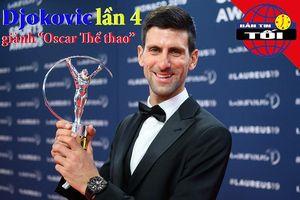 Djokovic lần thứ tư đoạt 'Oscar thể thao', Solskajer than trời