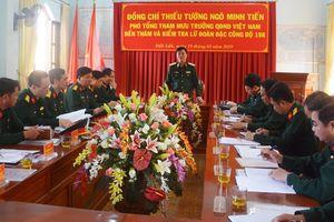 Bộ Tổng Tham mưu kiểm tra một số đơn vị trên địa bàn Tây Nguyên