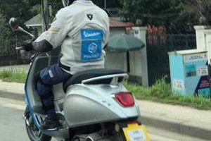 'Xe điện' Piaggio Vespa Elettrica bất ngờ chạy thử trên phố Hà Nội