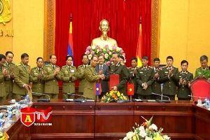 Bộ Công an Việt Nam và Lào ký kết tăng cường hợp tác công tác đảm bảo an ninh