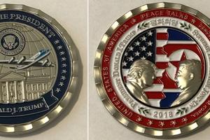 Đồng xu 'Hòa bình thế giới' kỷ niệm cuộc gặp lịch sử Mỹ - Triều có gì khác thường?