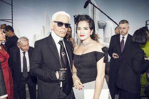 Lý Nhã Kỳ một trong những sao Á hiếm hoi được gặp gỡ 'Ông hoàng Chanel' Karl Lagerfeld