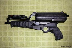Hình ảnh tiểu liên Calico M950 với hộp tiếp đạn 'có một không hai'