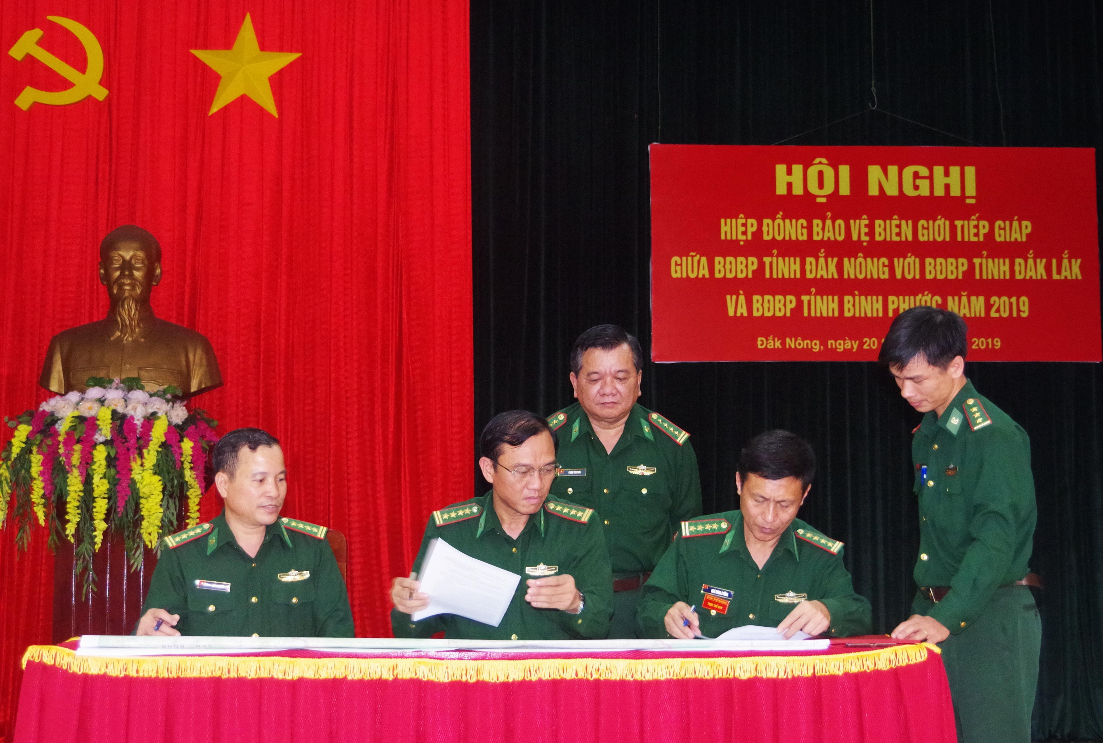 BĐBP Đắk Nông, Đắk Lắk, Bình Phước hiệp đồng bảo vệ biên giới tiếp giáp năm 2019