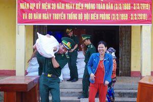 Đồn Biên phòng cửa khẩu quốc tế Thường Phước vận động hỗ trợ 6 tấn gạo cho người nghèo