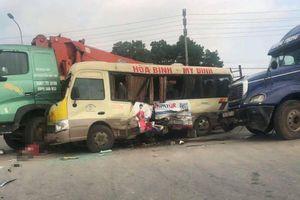 2 người đã tử vong trong vụ tai nạn liên hoàn ở Hà Nội