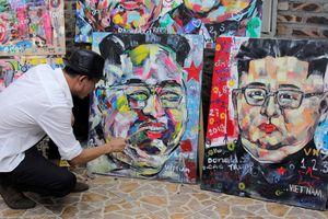 Họa sĩ Việt vẽ Chủ tịch Kim Jong-un và Tổng thống Trump trước hội nghị thượng đỉnh