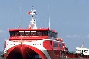 Tàu cao tốc Côn Đảo chở hơn 500 khách gặp sự cố trên biển