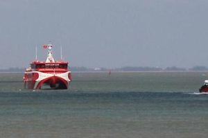 Tàu cao tốc hai thân lớn nhất Việt Nam gặp sự cố giữa biển