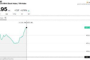 Chứng khoán sáng 21/2: Vượt trội so với khu vực, VN-Index vọt lên gần 978 điểm