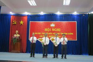 Ông Nguyễn Văn Lộc giữ chức Chủ tịch Ủy ban MTTQ tỉnh Bình Dương