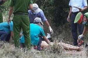 Hiện trường phát hiện thi thể người phụ nữ lõa thể ở Ninh Thuận