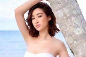 Hoa hậu Đỗ Mỹ Linh khoe vóc dáng gợi cảm với đồ bơi