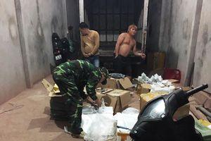 Đồn Biên phòng Bắc Sơn bắt giữ hàng hóa nhập lậu