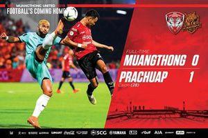 Thủ thành Văn Lâm để thủng lưới bàn đầu tiên tại Thai League 2019