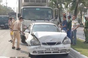 An Giang: Tai nạn liên hoàn do tài xế ngủ gật