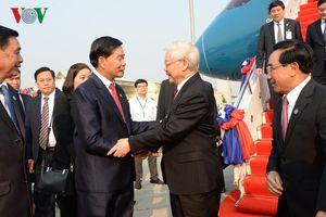 Tổng Bí thư, Chủ tịch nước bắt đầu thăm hữu nghị chính thức CHDCND Lào